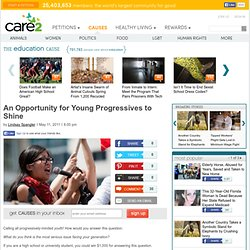 An Opportunity for Young Progressives to Shine