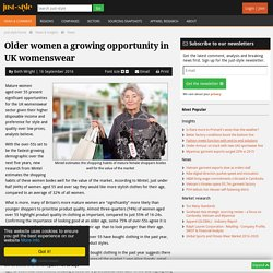 Older women a growing opportunity in UK womenswear