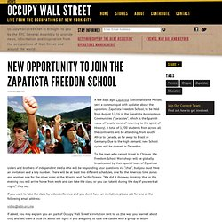 New Opportunity to Join the Zapatista Freedom School