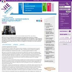 Logement social : comment rendre le droit au logement effectif ?