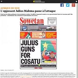 L'opposant Julius Malema passe à l'attaque