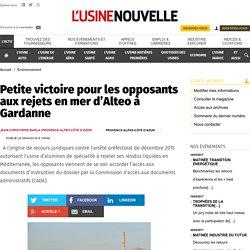 Petite victoire pour les opposants aux rejets en mer d'Alteo à Gardanne - Environnement