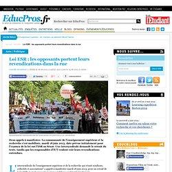 Loi ESR : les opposants portent leurs revendications dans la rue