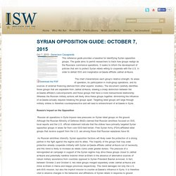 Syrian Opposition Guide: October 7, 2015
