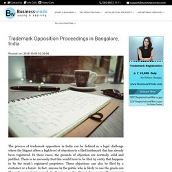 Trademark Opposition Proceedings in Bangalore, India