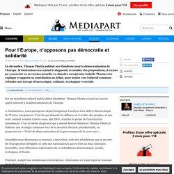 DOC 6 : Pour l'Europe, n'opposons pas démocratie et solidarité