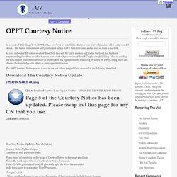 OPPT Courtesy Notice