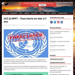 UCC & OPPT – Tous morts en mer à 7 ans – Etresouverain.com