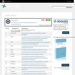 Opquast V2: 217 critères. La check-list de référence pour la qualité des sites. - oqs-v2 - Opquast Check-lists