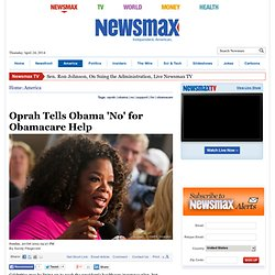 Oprah Tells Obama 'No' for Obamacare Help