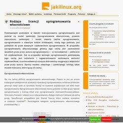 Rodzaje licencji oprogramowania – własnościowe » JakiLinux
