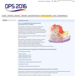 OPS 2016 - Perusteluonnokset