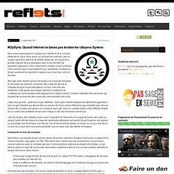 #OpSyria: Quand internet ne laisse pas tomber les citoyens Syriens