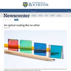 An optical coating like no other : NewsCenter