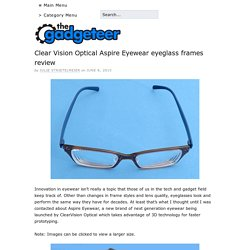 Clear Vision Optical Aspire Eyewear eyeglass frames review