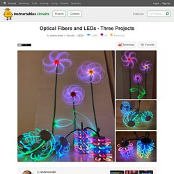 Optical Fibers and LEDs - Three Projects : 5 Steps