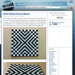 LEGO Optical Illusion Mosaic