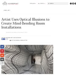 Optical Illusion Rooms by Peter Kogler Play With Space and Perspective