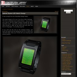 Optical Illusion LED Watch Design