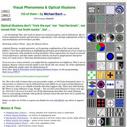 Optical Illusions and Visual Phenomena