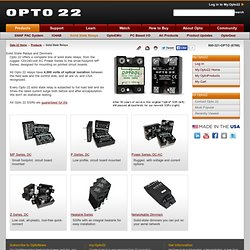 Solid State Relays from Opto 22 - Optical isolation, guaranteed for life