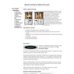 2. Optical sorting machine - Siltrronix.com
