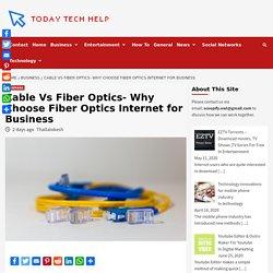 Fiber Optics Internet For Business