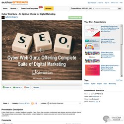 Cyber Web Guru - an Optimal Choice for Digital Marketing