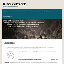 Optimal Learning - The Second Principle