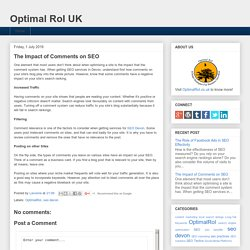 The Impact of Comments on SEO