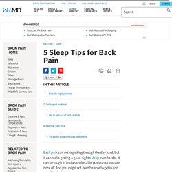 5 Sleep Tips for Back Pain