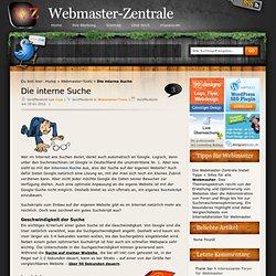 Das optimale Suchskript - die interne Suche » Webmaster-Zentrale