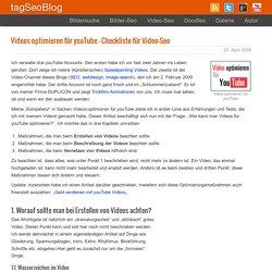 Videos optimieren für youTube – Checkliste für Video-Seo