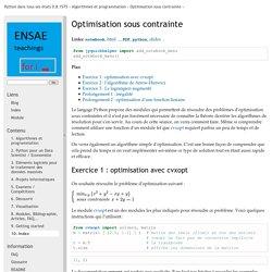 Optimisation sous contrainte — Python dans tous ses états 0.8.1575