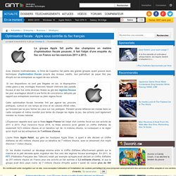 Optimisation fiscale : Apple sous contrôle du fisc français