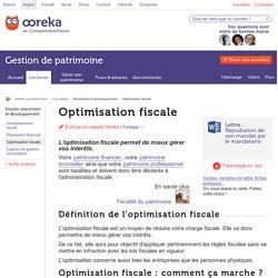 Optimisation fiscale : définition - Ooreka