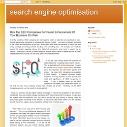 search engine optimisation: Hire Top SEO Companies For Faster Enhancement Of Your Business On Web