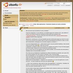[Tuto] - Mon optimisation / finalisation Xubuntu (et autres variantes) (Page 1) / XFCE