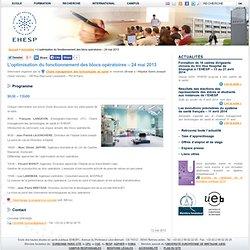 L'optimisation du fonctionnement des blocs opératoires – 24 mai 2013