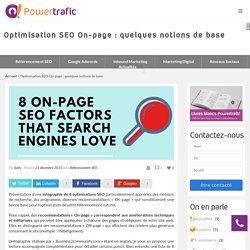 Optimisation SEO On-page : rappel des fondamentaux