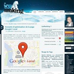 Conseils d'optimisation de la page Google+ Local