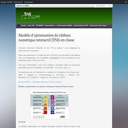 Modèle d'optimisation du tableau numérique interactif (TNI) en classe