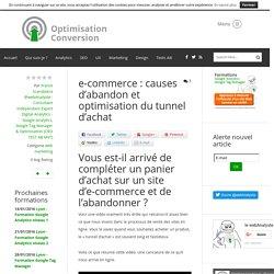 e-commerce : causes d'abandon et optimisation du tunnel d'achat - web marketing