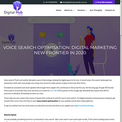 VOICE SEARCH OPTIMISATION: DIGITAL MARKETING NEW FRONTIER IN 2020