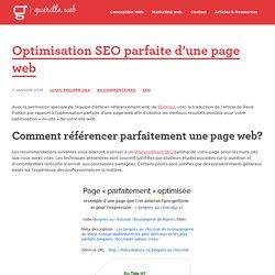 Optimisation SEO Parfaite d'une Page Web