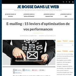 E-mailing : 15 leviers d'optimisation de vos performances