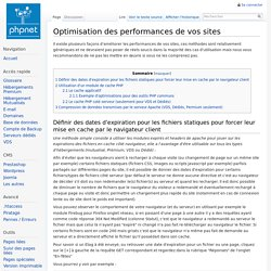 Optimisation des performances de vos sites — PHPnet Wiki