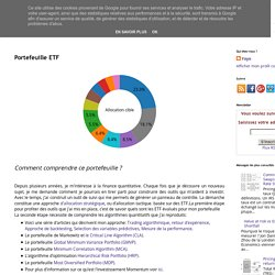 Optimisation de portefeuille ETF: Portefeuille ETF