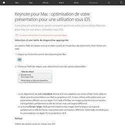 Keynote pour Mac: optimisation de votre présentation pour une utilisation sous iOS