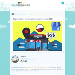 ▷ 5 Optimisations Google My Business et vos avis en 2020